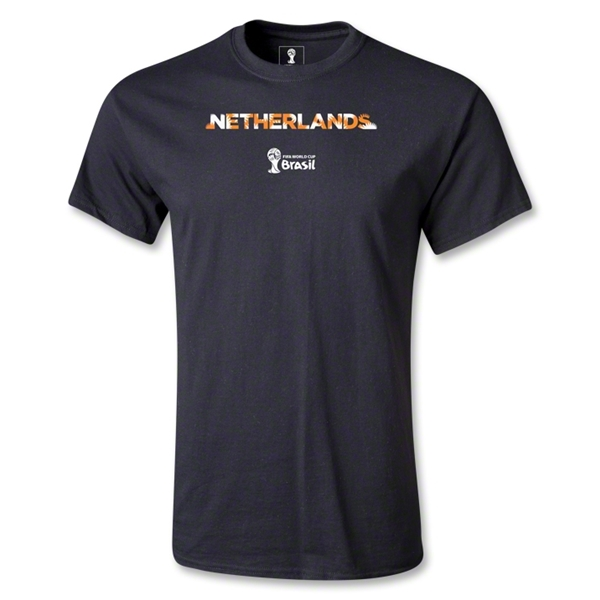 Netherlands 2014 FIFA World Cup Brazil(TM) Palm T-Shirt (Black)