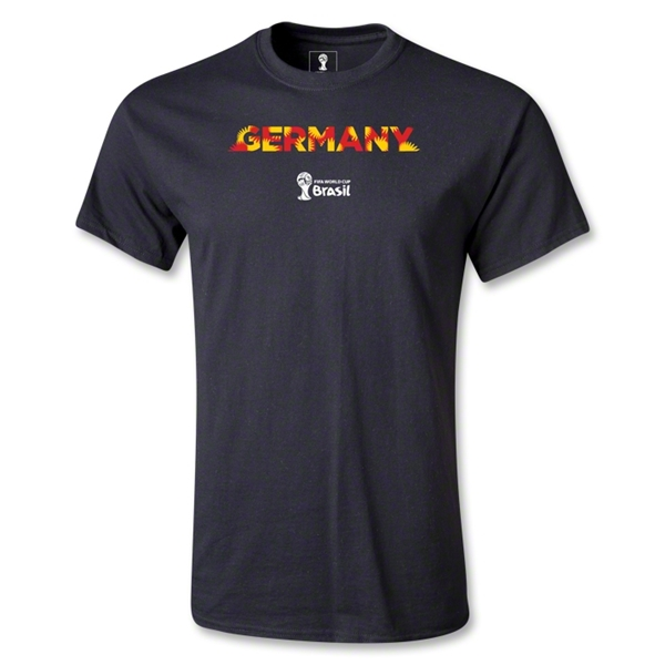 Germany 2014 FIFA World Cup Brazil(TM) Men's Palm T-Shirt (Black)