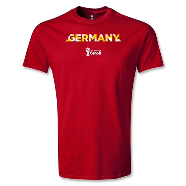 Germany 2014 FIFA World Cup Brazil(TM) Men's Palm T-Shirt (Red)