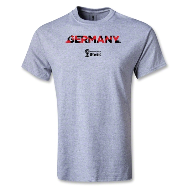 Germany 2014 FIFA World Cup Brazil(TM) Men's Palm T-Shirt (Gray)