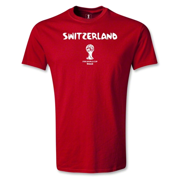 Switzerland 2014 FIFA World Cup Brazil(TM) Men's Core T-Shirt (Red)