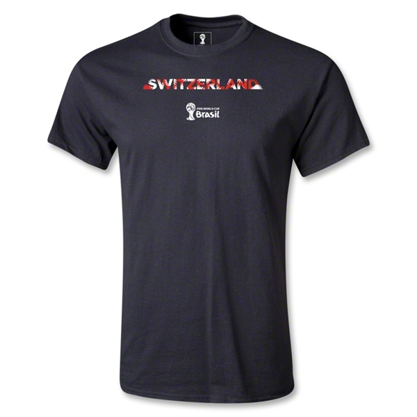 Switzerland 2014 FIFA World Cup Brazil(TM) Palm T-Shirt (Black)