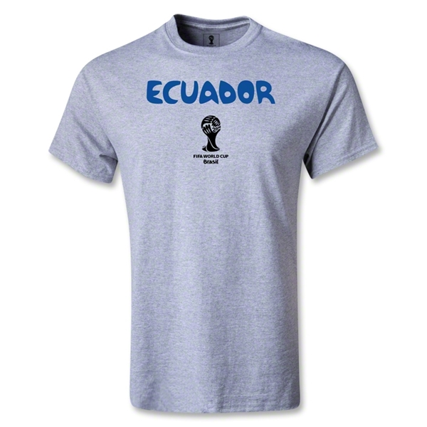 Ecuador 2014 FIFA World Cup Brazil(TM) Core T-Shirt (Gray)