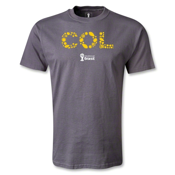 Colombia 2014 FIFA World Cup Brazil(TM) Elements T-Shirt (Dark Gray)
