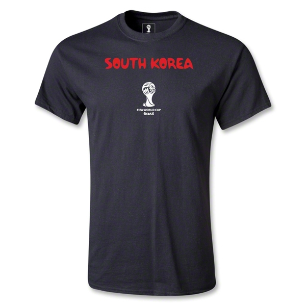 South Korea 2014 FIFA World Cup Brazil(TM) Men's Core T-Shirt (Black)