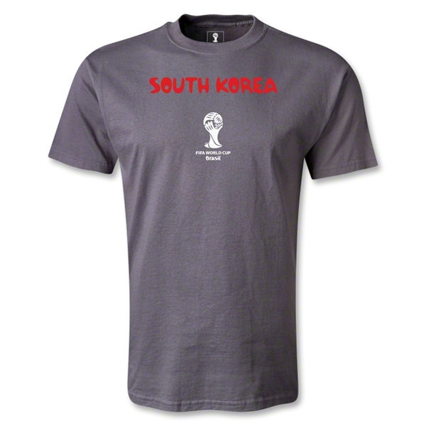 South Korea 2014 FIFA World Cup Brazil(TM) Men's Core T-Shirt (Dark Gray)