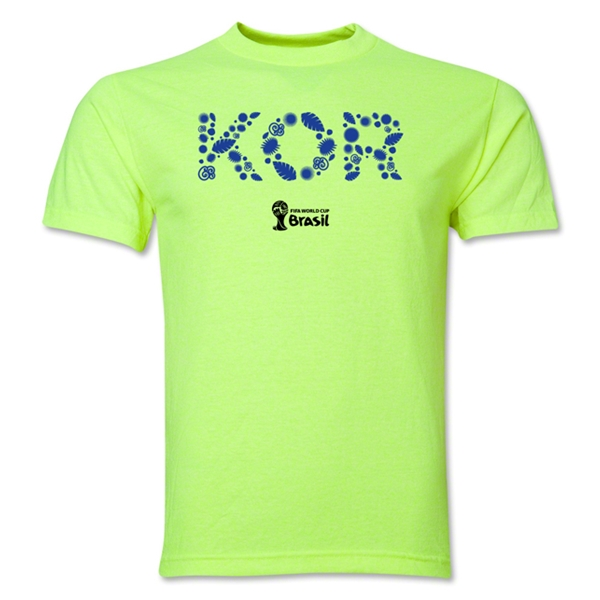 South Korea 2014 FIFA World Cup Brazil(TM) Men's Elements T-Shirt (Neon Green)