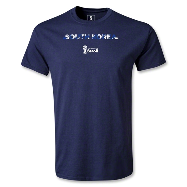 South Korea 2014 FIFA World Cup Brazil(TM) Men's Palm T-Shirt (Navy)
