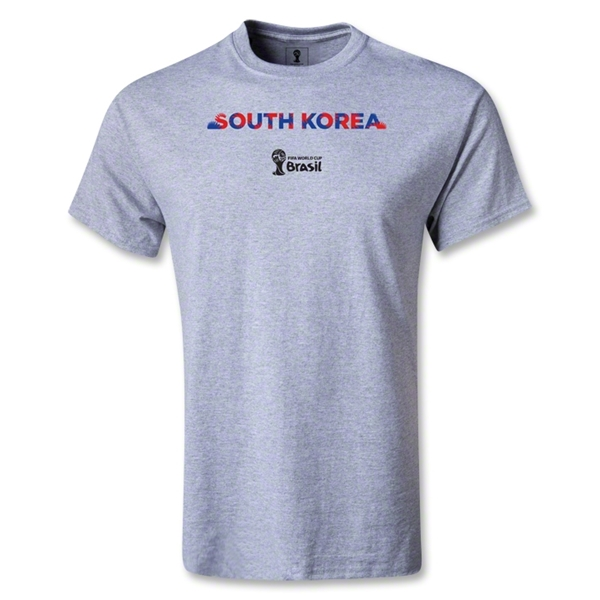 South Korea 2014 FIFA World Cup Brazil(TM) Men's Palm T-Shirt (Gray)