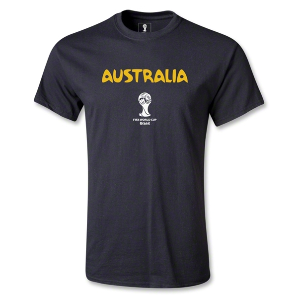 Australia 2014 FIFA World Cup Brazil(TM) Men's Core T-shirt (Black)