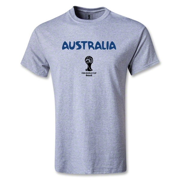 Australia 2014 FIFA World Cup Brazil(TM) Men's Core T-shirt (Gray)