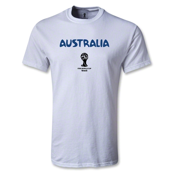 Australia 2014 FIFA World Cup Brazil(TM) Men's Core T-shirt (White)