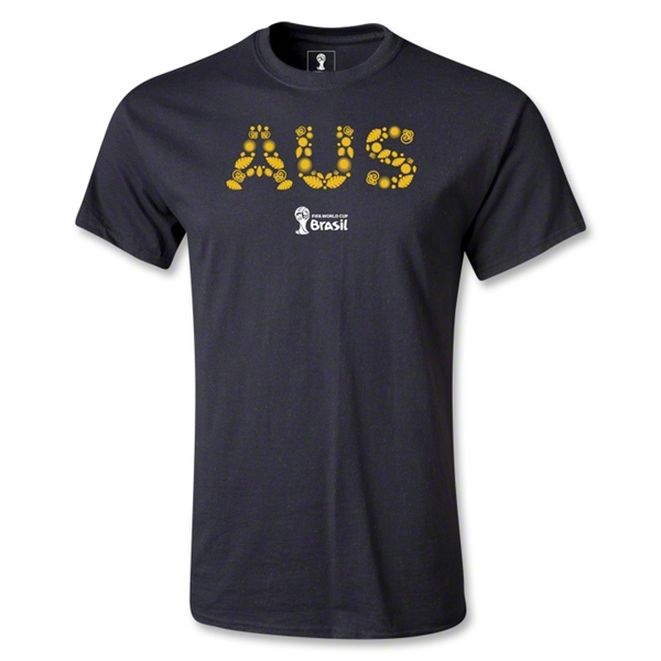 Australia 2014 FIFA World Cup Brazil(TM) Men's Elements T-Shirt (Black)
