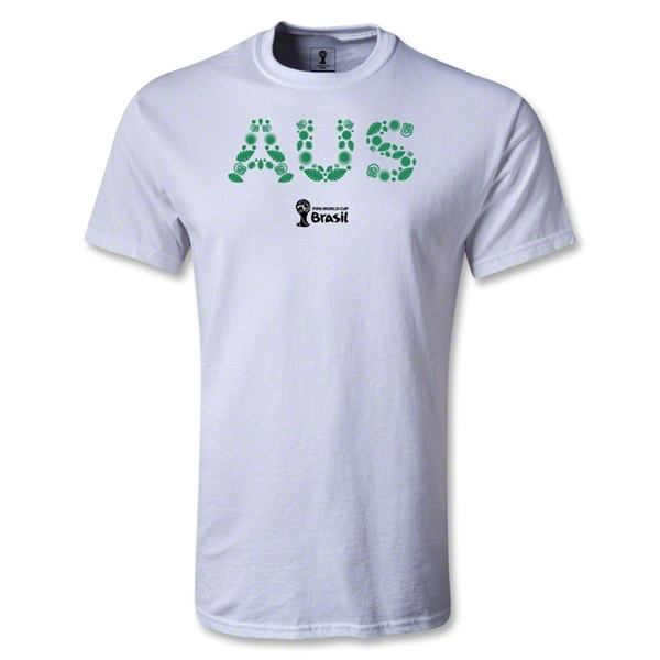 Australia 2014 FIFA World Cup Brazil(TM) Men's Elements T-Shirt (White)
