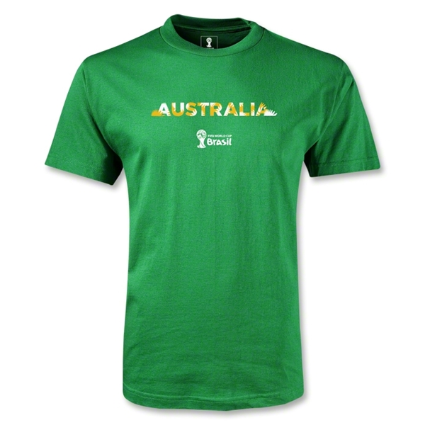 Australia 2014 FIFA World Cup Brazil(TM) Men's Palm T-Shirt (Green)