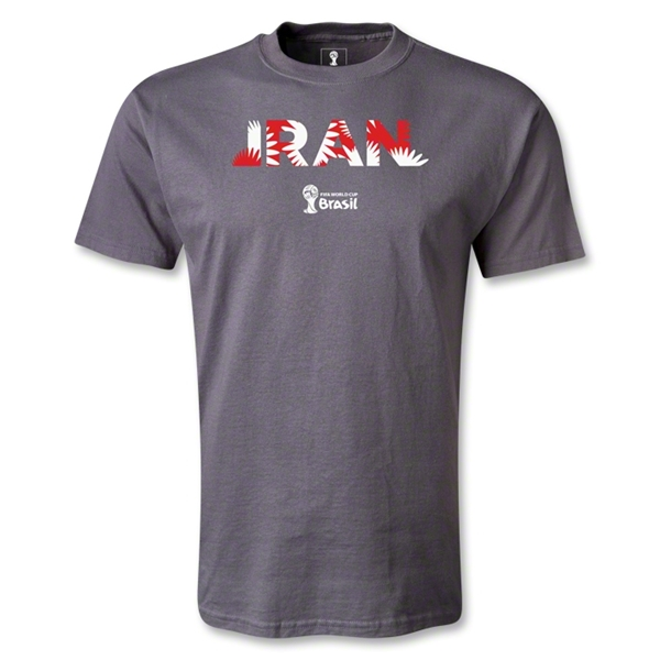 Iran 2014 FIFA World Cup Brazil(TM) Men's Palm T-Shirt (Dark Gray)