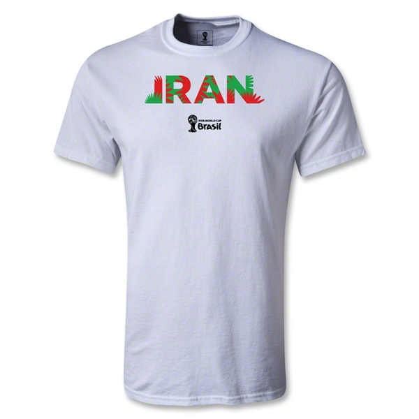Iran 2014 FIFA World Cup Brazil(TM) Men's Palm T-Shirt (White)