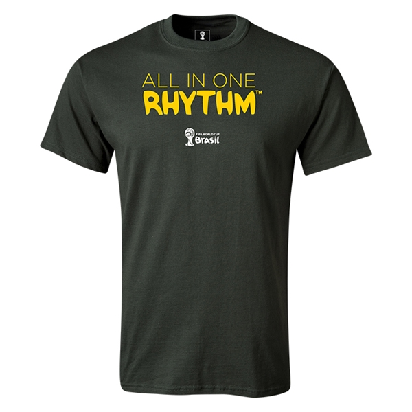 2014 FIFA World Cup Brazil(TM) All In One Rhythm T-Shirt (Dark Green)