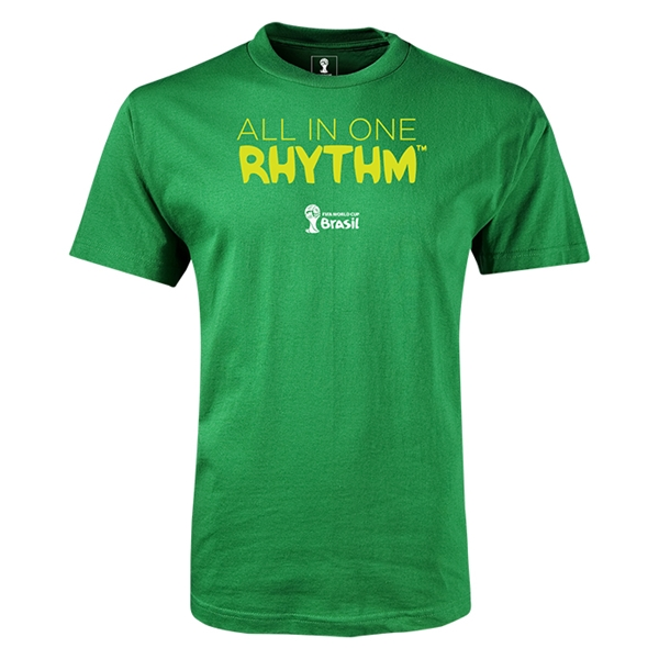 2014 FIFA World Cup Brazil(TM) All In One Rhythm T-Shirt (Green)
