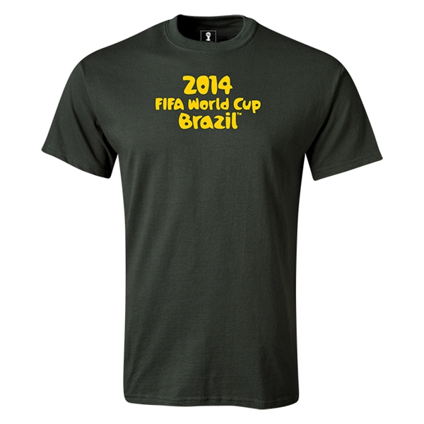 2014 FIFA World Cup Brazil(TM) Logotype T-Shirt (Dark Green)