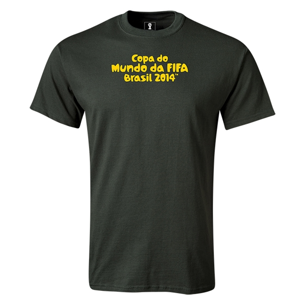 2014 FIFA World Cup Brazil(TM) Portugese Logotype T-Shirt (Dark Green)