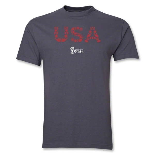 USA 2014 FIFA World Cup Brazil(TM) Elements T-Shirt (Dark Gray)