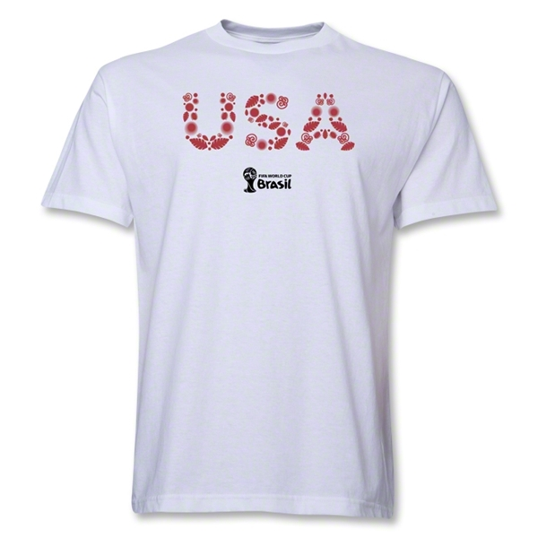 USA 2014 FIFA World Cup Brazil(TM) Elements T-Shirt (White)