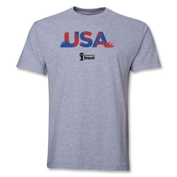 USA 2014 FIFA World Cup Brazil(TM) Palm T-Shirt (Gray)
