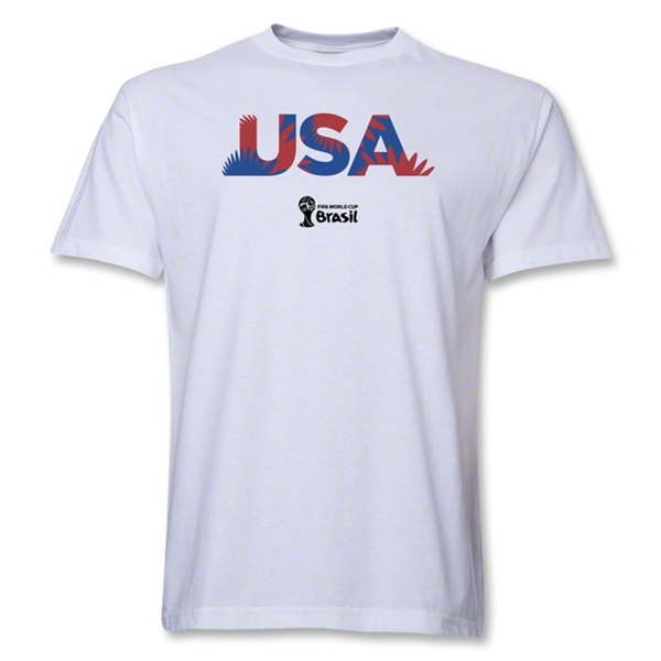 USA 2014 FIFA World Cup Brazil(TM) Palm T-Shirt (White)
