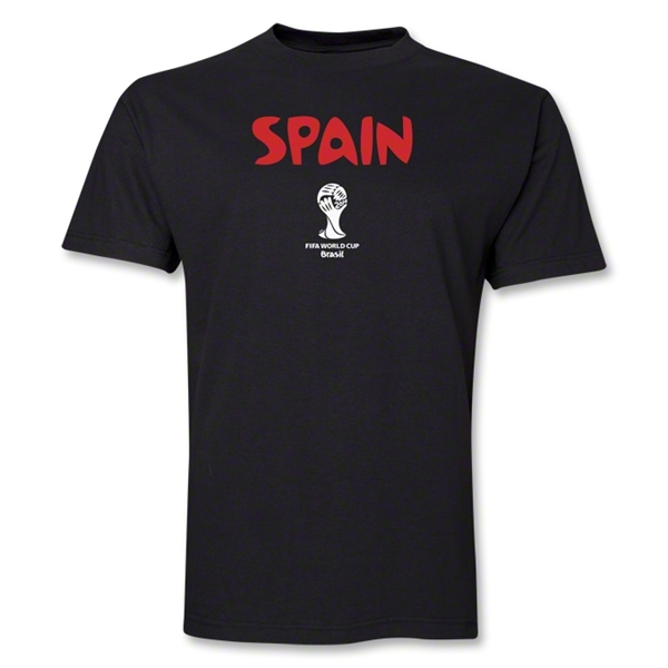 Spain 2014 FIFA World Cup Brazil(TM) Core T-Shirt (Black)