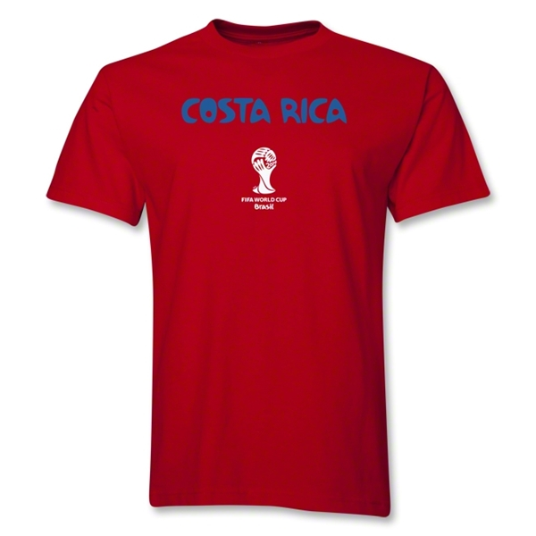 Costa Rica 2014 FIFA World Cup Brazil(TM) Men's Basic Core T-Shirt (Red)