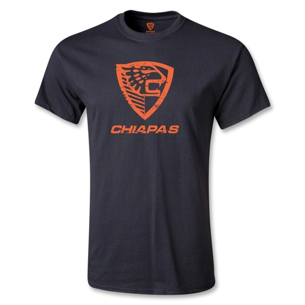 Jaguares de Chiapas Distressed Logo T-Shirt (Black)
