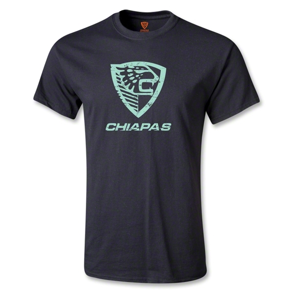Jaguares de Chiapas Distressed Logo T-Shirt II (Black)