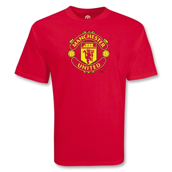 Manchester United Big Crest Soccer T-Shirt (Red)