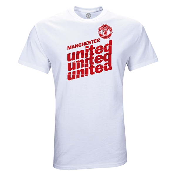 Manchester United Script T-Shirt (White)
