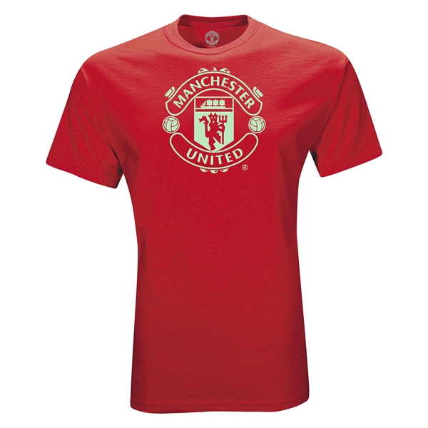 Manchester United Crest T-Shirt (Red)