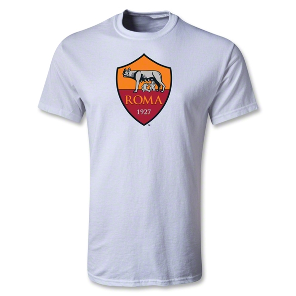 AS Roma Crest T-Shirt (White)