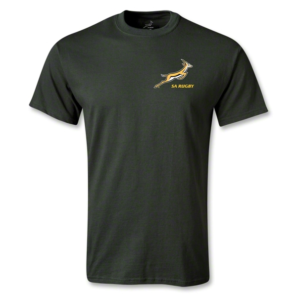 South Africa Springboks Logo SS T-Shirt (Dark Green)