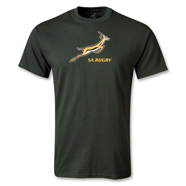 South Africa Springboks Bok Logo T-Shirt (Dark Green)