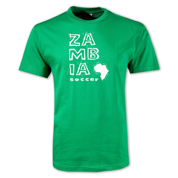 Zambia Country T-Shirt (Green)