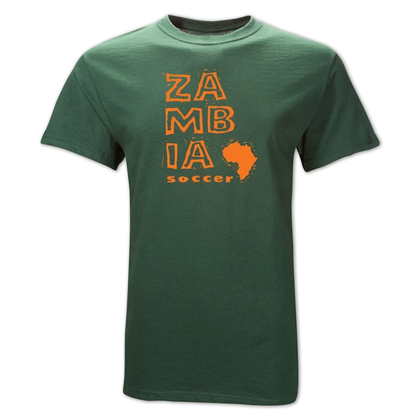 Zambia Country T-Shirt (Dark Green)