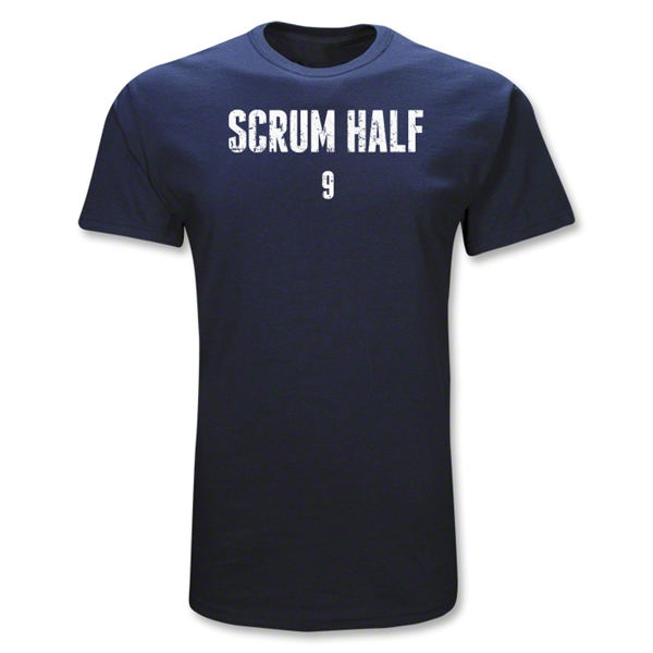 Scrum Half 9 Position Rugby T-Shirt (Navy)