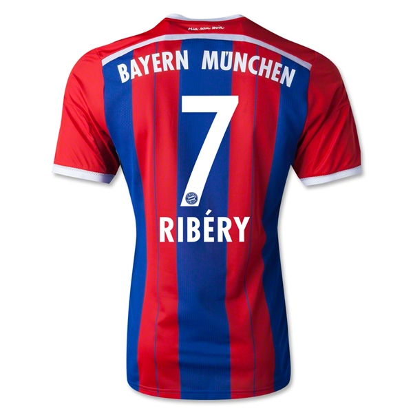 Bayern Munich 14/15 RIBERY Authentic Home Soccer Jersey