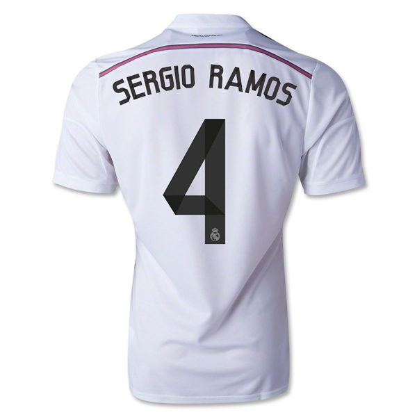 Real Madrid 14/15 SERGIO RAMOS Authentic Home Soccer Jersey