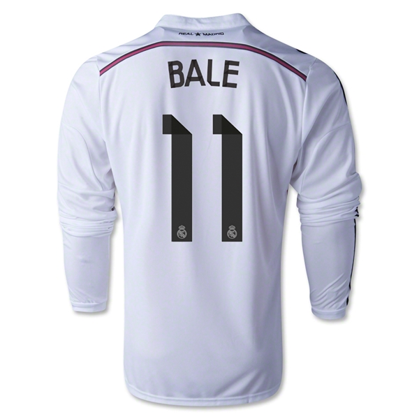 Real Madrid 14/15 BALE LS Home Soccer Jersey