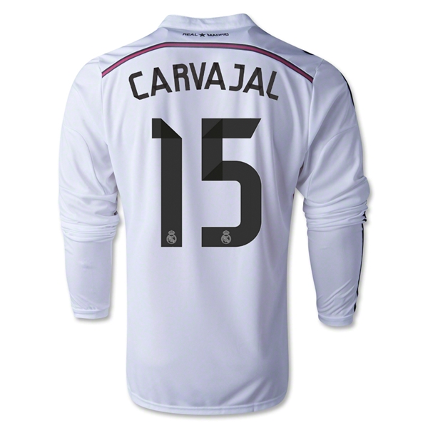 Real Madrid 14/15 CARVAJAL LS Home Soccer Jersey