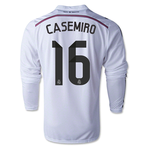 Real Madrid 14/15 CASEMIRO LS Home Soccer Jersey