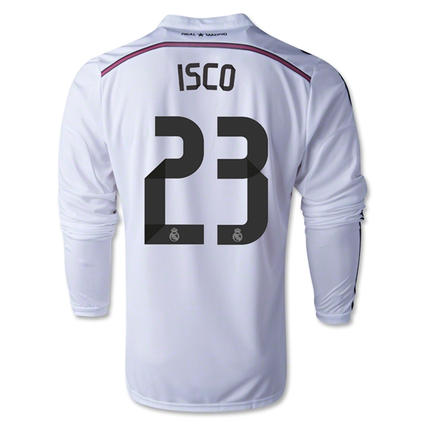 Real Madrid 14/15 ISCO LS Home Soccer Jersey