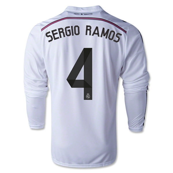 Real Madrid 14/15 SERGIO RAMOS LS Home Soccer Jersey