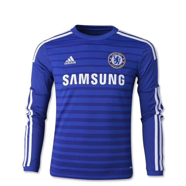 Chelsea 14/15 LS Youth Home Soccer Jersey